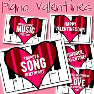 New Freebie: Piano Valentines
