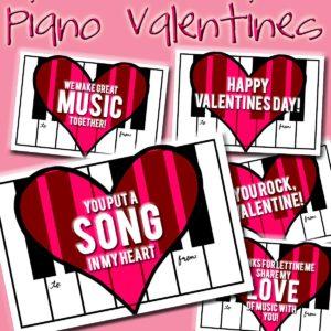 New Freebie: Piano Valentines